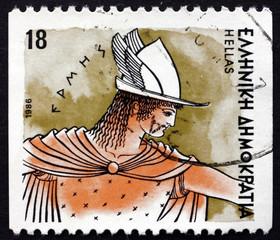 Postage stamp Greece 1986 Hermes, Greek God