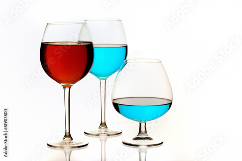 Special Red and Blue cocktail glasses