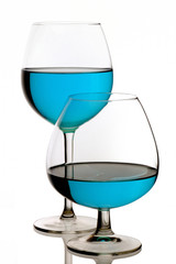 Special Blue cocktail glasses