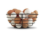 Basket of Brown and White Eggs