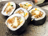Freshly prepared Japanese Sushi