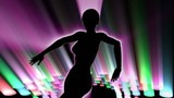 Club dancer silhouette.