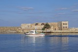 The Venetian port, harbor of Chania,Crete,Greece