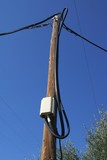 electrical pole. electrical pole