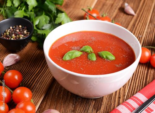 Deurstickers Klaar gerecht Tomato soup