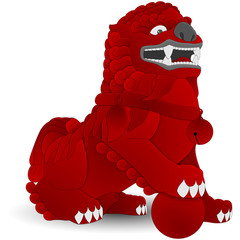 China - Komainu - Red
