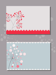 cover template with beautiful flowers