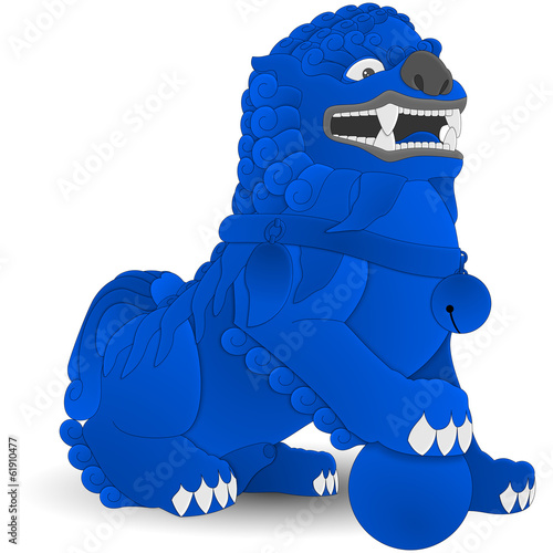 China - Komainu - Blue