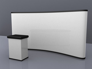 blank trade show booth for designers.