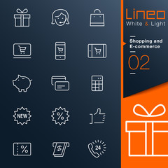 Lineo White & Light - Shopping and E-commerce outline icons