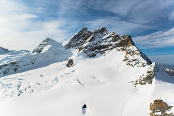 Jungfraujoch, Part of Swiss Alps Alpine Snow Mountain