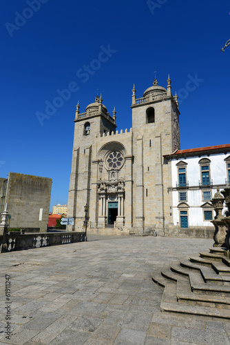 Porto Cathedral is located at the center of Porto, Portugal