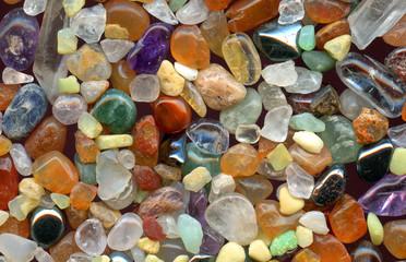 color gemstones background