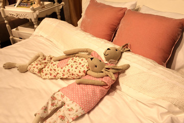 Two toy hares