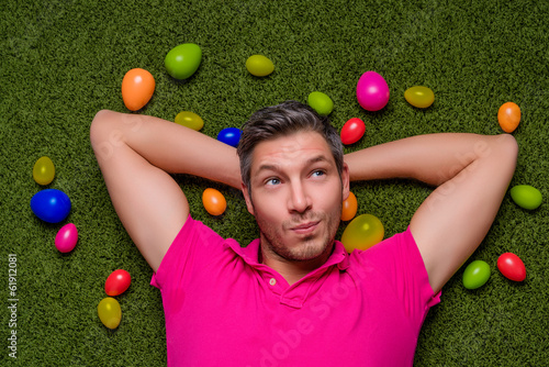 canvas print picture easter man