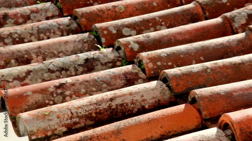 Clay rusty roof tile