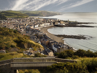 Looking down on Aberystwyth