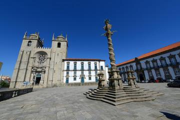 Porto Cathedral and Manueline Pillory, Porto, Portugal