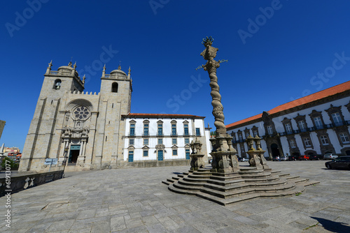 Porto Cathedral and Manueline Pillory, Porto, Portugal