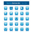 VECTOR BUTTON SET 2 (blue square website internet web icons)