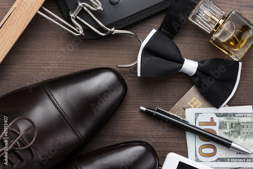 masculine accessories on the table