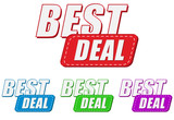 best deal, four colors labels