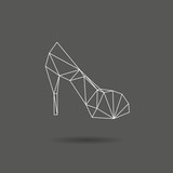High hill shoes abstract isolated on a white backgrounds