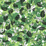 Foliage pattern. Vector seamless background.