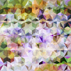 Colorful abstract geometric grunge pattern. Eps10
