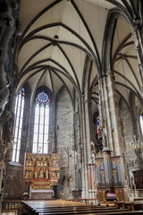 Interior of Stephansdom in Vienna