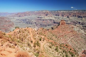 Trekking South Kaibab trail, Grand Canyon, Arizona, USA