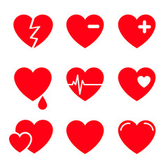 Hearts Vector Icon Set