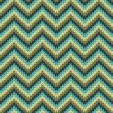 Seamless Zigzag knitting pattern. Vector Illustration