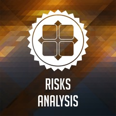 Risk Analysis Concept on Triangle Background.