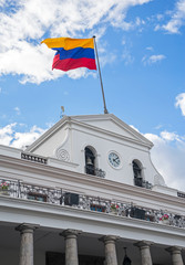 Side view of the President's Palace in Quito