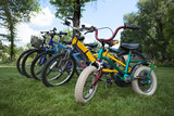 Five bicycles