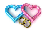 Rings heart gold