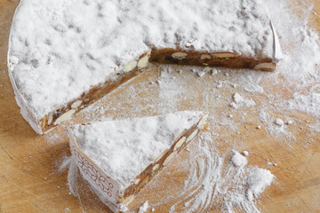 Panforte, the traditional cake of Siena, Italy