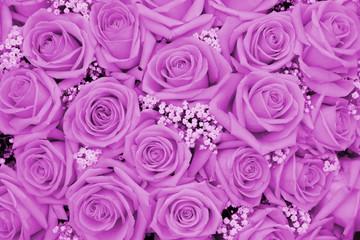 Purple wedding arrangement