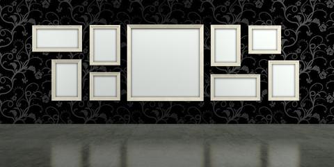 Galerie, Bilder, Rahmen, Ausstellung