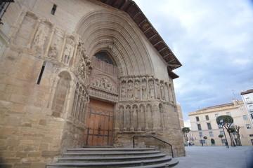 Fachada romanica iglesia en Logroño (La Rioja)