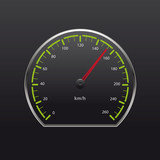 Vector illustration of speedometer