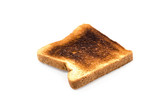 pieces of Burnt Toast  Clipping path included