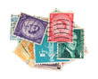 Canceled vintage postage stamps