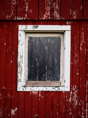 Barn Window Red