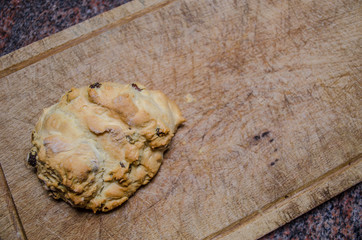 scone on a chopping board