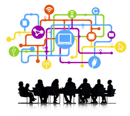 Computer Network with Business Meeting