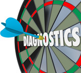 Diagnostics Word Dart Board Find Solution Problem Aim Target