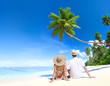 Romantic Couple on Paradise Beach