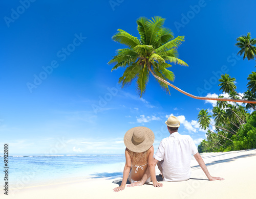 Romantic Couple on Paradise Beach